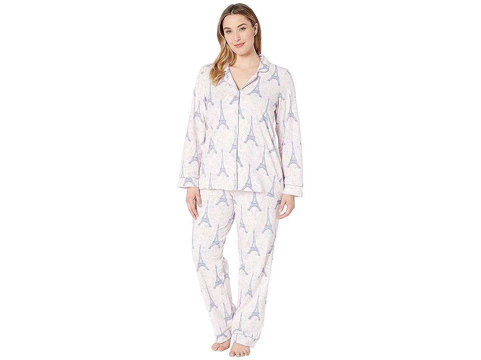 BedHead Pajamas Plus Size Long Sleeve Classic Notch Collar Pajama Set (Colette