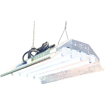 DuroLux T5 Grow Light - 2 FT 4 Lamps - DL824 HO Fluorescent Hydroponic Fixture Bloom Veg Daisy Chain with Bulbs
