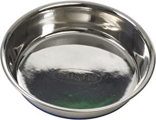 Buster Stainless Steel Shallow dish Blue base SS