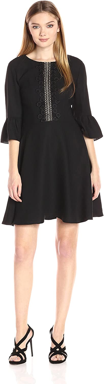 CeCe by Cynthia Steffe Womens LaineRuffle Sleeve Lace Trim Dress