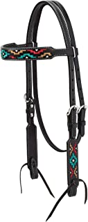 Weaver Leather Turq Cross Browband Headstall