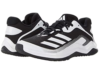 adidas Kids Icon 6 Turf Baseball (Little Kid/Big Kid) (Black/Footwear White/Footwear White) Kids Shoes