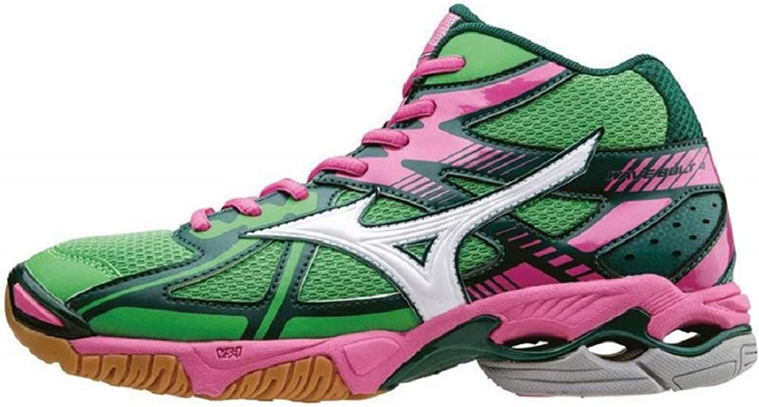 MIZUNO WOMAN VOLLEY schuhe AND FLUO CODE V1GC156533 WAVE BOLT 4 MID
