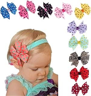 Clearance Sale!Babys Hairband,Canserin 10PC Elastic Wave Point Bowknot Headband