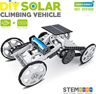 STEM 4WD Car DIY Climbing Vehicle Motor Car Educational Solar Powered Car Engineering Car for Kids, Gift Toy Circuit Building Projects Science Experiment,BuildingToys