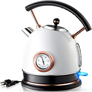کتری آب برقی Pukomc 1.8L با دماسنج ، دیگ بخار آب گرم