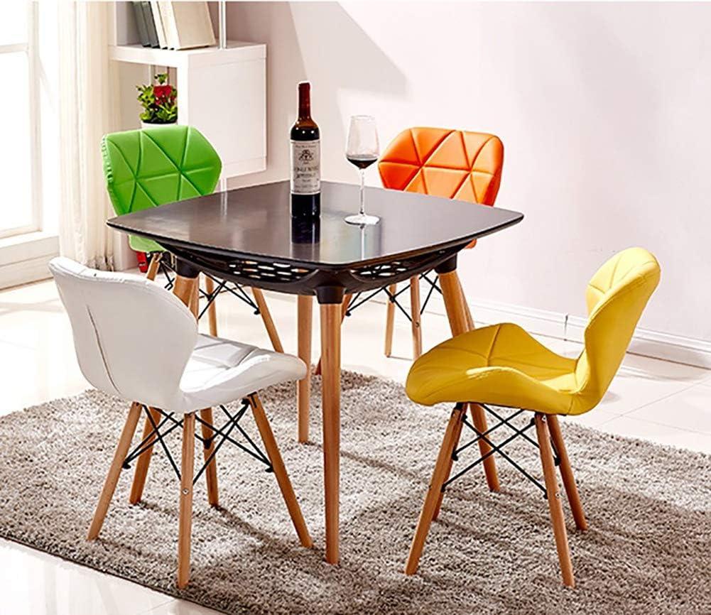 FGVVA Chaises de Salle à Manger Style rétro - pour Bureau, Salon, Salle à Manger, Cuisine, Alliage, Marron, Size 0.00watts Orange