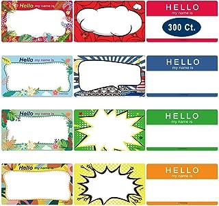 Name Tag Labels Stickers, Yoklili Printable Hello My Name is Colorful Plain Name Badge Tags, Print or Write, 3 1/2