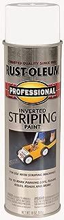 Rust-Oleum 2593838 Professional Stripe Inverted Striping Spray Paint, 18 oz, White