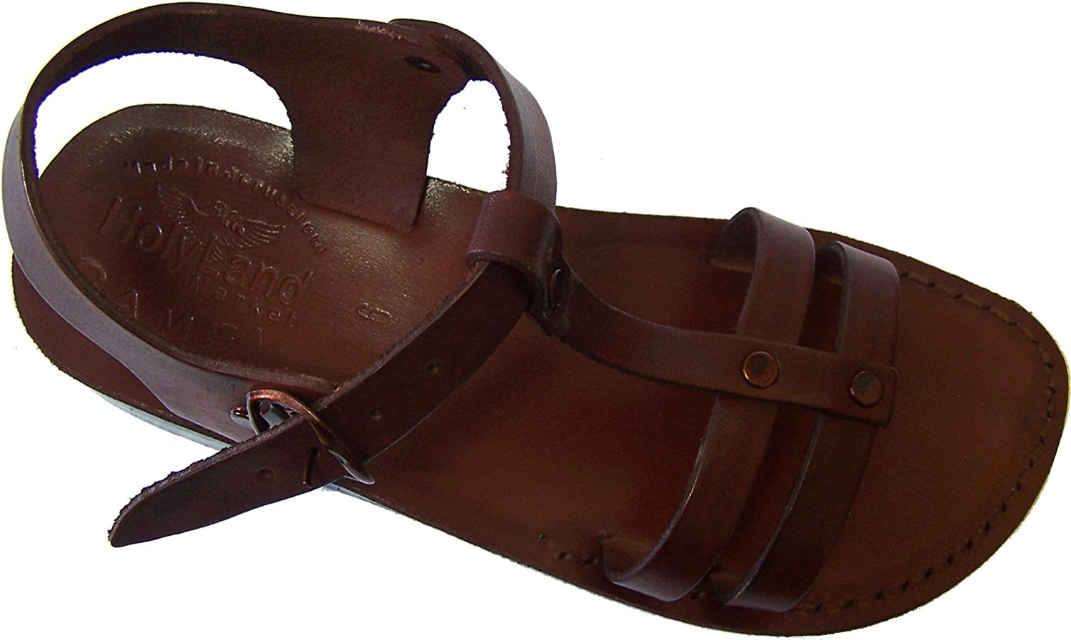 Holy Land Market Unisex Adult Genuine Leather Biblical Sandals (Peter The Fisherman)