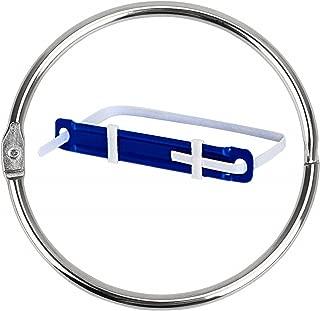 Loose Leaf Binder Rings Book Ring(15 Pack)Large 2 3/4 Inch Diameter Nickel Plated Silver