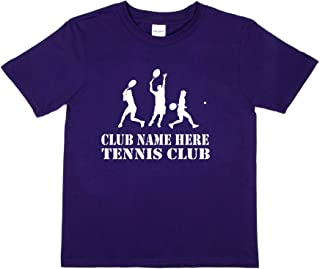 Print4u Tennis Club Name Here Personalised Kids T-Shirt