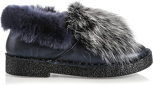 Roberto Serpentini 6655 blau Leder Winter Warm gefüttert italienische Designer Schuhe