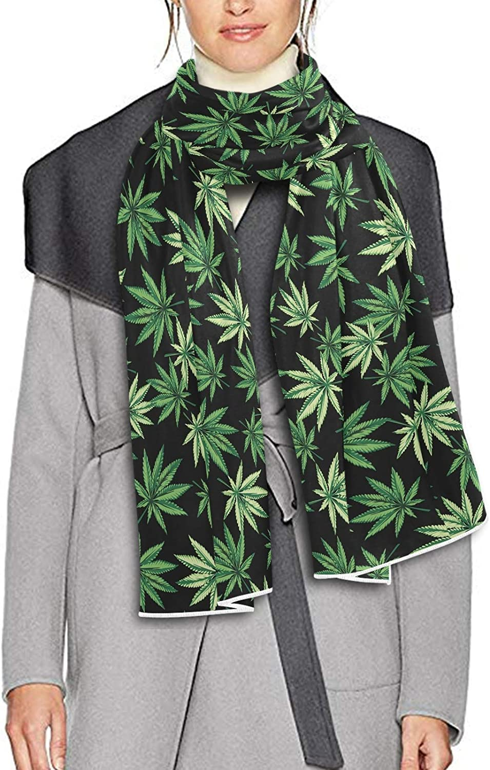 Scarf for Women and Men Leaves Marijuana Shawl Wraps Blanket Scarf Thick Soft Winter Large Scarves Lightweight
