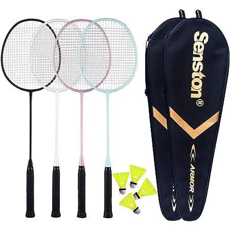 Senston Badminton Racket N80 Graphite Single High-grade Badminton Racquet,Carbon Fiber Badminton Racket,Including Badminton Bag
