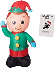 Christmas Elf Inflatable Holiday Decoration 4 ft with Inflatable Care Guide