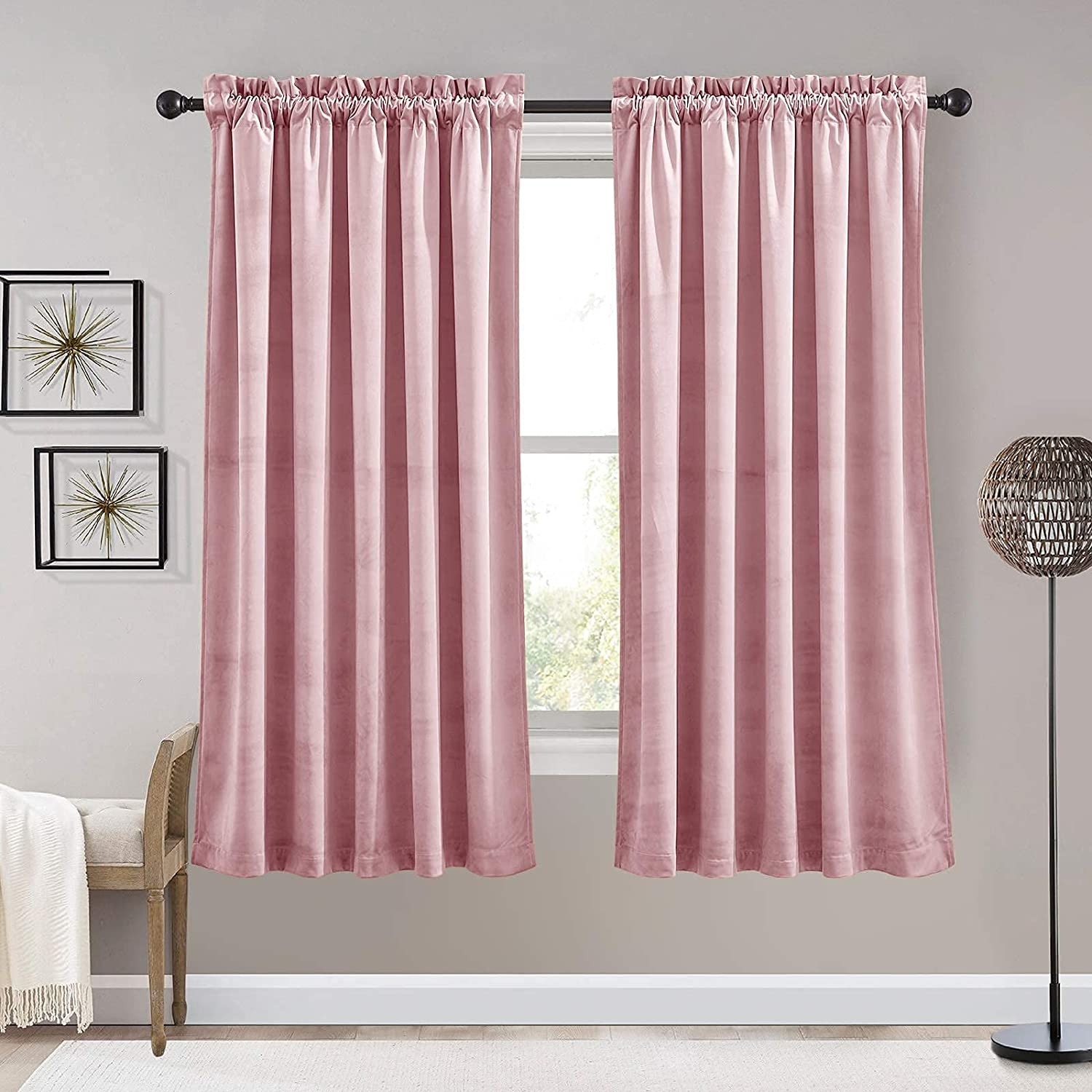 RYB HOME Velvet Curtains for Kids Th Soft Super - New product!! Outstanding Room Darkening