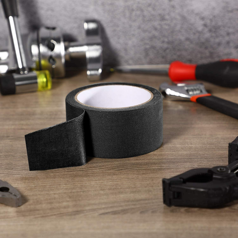 Schwarz Gewebe Band 5 cm x 10 m Klebstoff Naht Versiegelung Band f/ür Reparatur von Gurtb/ändern
