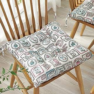 Square Tatami Seat Cushioning, Thickened Cloth Office Chair Pad Comfortable Sponge Non-slip Washable Seat Pad-u L41xw41xh7cm