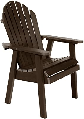 Sequoia Professional CM-CHRSQD2-ACE Commercial Grade Muskoka Adirondack Deck Dining Chair, Weathered Acorn