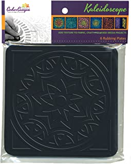 Cedar Canyon Textiles Artist's Paintstiks Rubbing Plates, 7.125 by 7.125-Inch, Kaleidoscope, 6-Pack