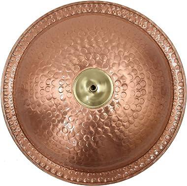 Achla Designs BBHC-02T-WM Hammered Wall Mount Bracket Birdbath, Polished Solid Copper, Black