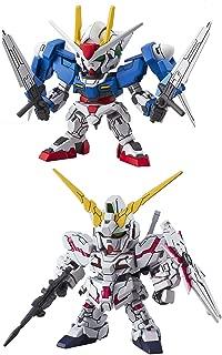 2 Bandai SD EX-Standard Gundam Action Figure Assembly Models - RX-0 Unicorn (Destroy Mode) & 008 00