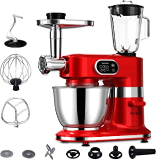 Aifeel 8 in 1 Kitchen Stand Mixer Electric 1000W 5-Speed Setting Electric Tilt-Head Food Mixers Meat Grinder Dough Blender...