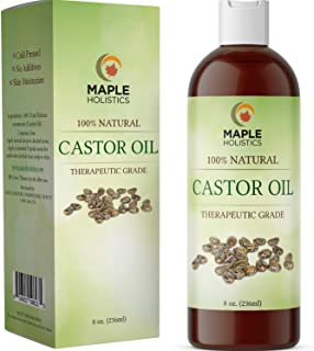 Jamaican Castor Oil for Hair Growth - Cold Pressed Castor Oil for Eyelashes and Eyebrows Humectant Moisturizer and Candida...