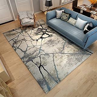 Ommda Dywany do salonu, nowoczesne podsumowanie cyfrowe, dywan kolorowy, krótkie runo, antypoślizgowy, zmywalny, 140 x 200...
