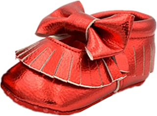 Gift House(ギフトハウス)赤ちゃんシューズ 子供靴 ベビースニーカー ファーストシューズ ソフトソール 耐磨 滑り止め歩行練習 履き心地いい 蝶結び タッセル 可愛い 室内履き ルームシューズ 履き心地いい 春 秋用