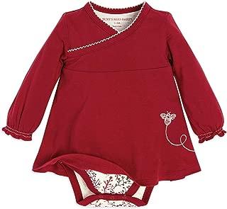 Baby Girls Bodysuit, Short Sleeve and Long Sleeve One-Piece Bodysuits, 100% Organic Cotton