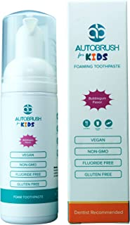 AutoBrush Foaming Kids Toothpaste! Cavity Protection Foam Formula | 2-in-1 Cavity Fighting Toothpaste & Mouthwash | Yummy Bubblegum Flavor | Fluoride-Free | Dentist Recommended!