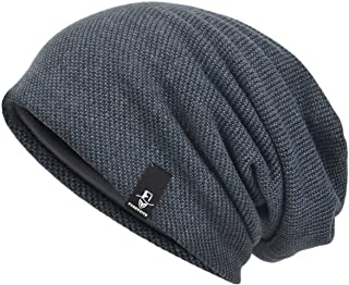 VECRY Men's Cool Cotton Beanie Slouch Skull Cap Long Baggy Hip-hop Winter Summer Hat B305