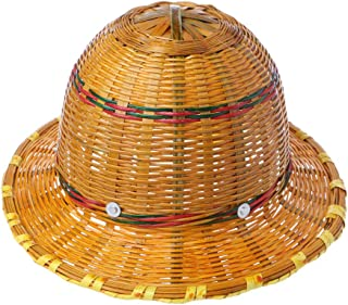 Lvyuanda Hand Knitted Bamboo Construction Hard Hat Breathable Safety Helmet