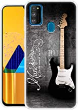 Fashionury Musical Guitar Printed Soft Silicone Flexible 360 Degree Protection Shockproof Slim Back Cover for Samsung Galaxy M30s