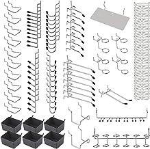 Romacci 140 unidades de metal Pegboard ganchos organizador kit conjunto de travas de bloqueio de aplicativos de suspensão
