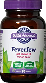 Oregon's Wild Harvest Non-GMO Feverfew (F.D.), Organic Herbal Supplements, 90 Count