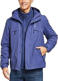BALEAF Men's 3 in 1 Ski Jacket Waterproof/Windproof Warm Snowboarding Coats with Fleece Liner Jacket Detachable Hooded Rai...