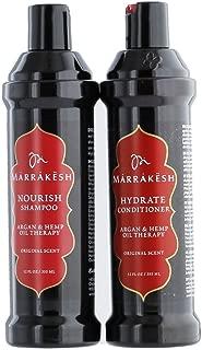 MARRAKESH Original Shampoo + Conditioner Combo Set With Hemp and Argan Oils for Unisex, 12 oz