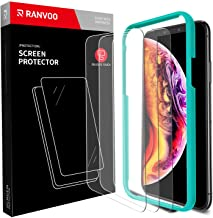 RANVOO [3 Pack] iPhone Xs Max Screen Protector 9H Tempered Glass HD Slim 3D Touch Anti-Scratch Anti-Fingerprint Easy Install Tempered Glass Film (2018) 6.5 Inch