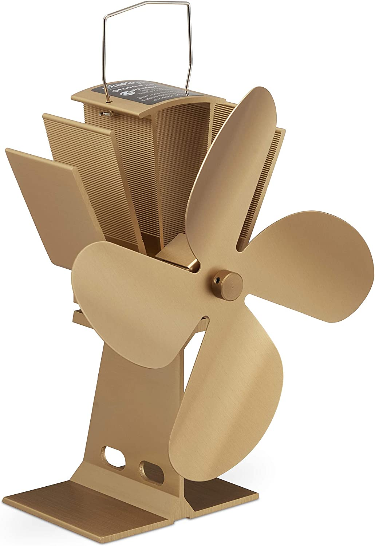 ger/äuscharm Relaxdays Ofenventilator ohne Strom Kaminventilator hitzebetrieben bronze f/ür Kamin /& Ofen 4 Bl/ätter