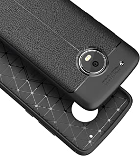 DEVMO Compatible with Motorola Moto G5 Plus TPU Bionic Leather Gel Rubber Full Body Protection Shockproof Cover Case Drop ...