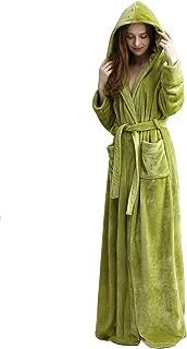 Women Night Lounge wear Flannel Robes Hooded Housecoat Full Long