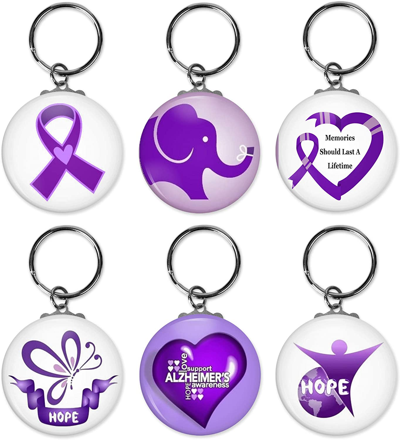 Alzheimer Awareness Support Keychains - For or Groups Events Weekly update B Japan Maker New