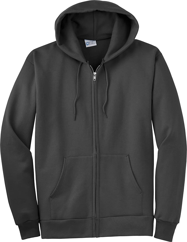 Port & Company - Tall Full-Zip Hooded Sweatshirt. PC90ZHT - XXXX-Large Tall - Charcoal