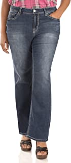 WallFlower Women's Juniors Plus Size Basic Legendary Stretch Bootcut Denim Jeans