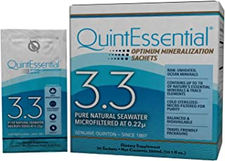 QuintEssential 3.3 - Concentrated Pure Seawater Electrolyte Liquid Minerals Supplement for Hydration, Muscle Recovery + En...