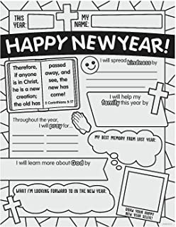 CYO RELIGIOUS HAPPY NEW YEAR POSTERS - Craft Kits - 30 Pieces