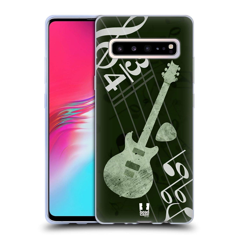 Head Case Designs Guitar Musika Soft Gel Case for Samsung Galaxy S10 5G